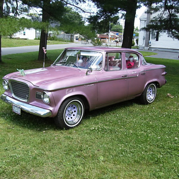 1959 pink coral metallic studebaker lark