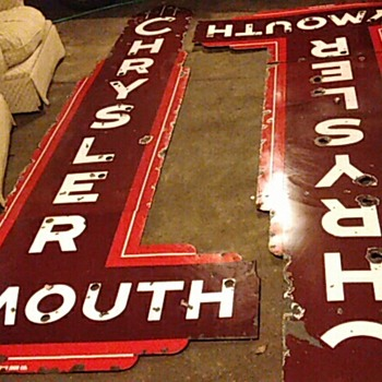 dealership porcelain vintage signs