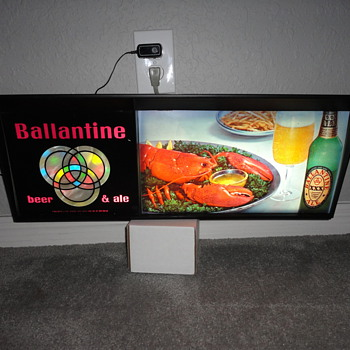 Ballantine Beer & Ale Lighted Sign - Signs