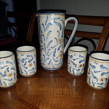 Pitcher and Mugs - Pottery