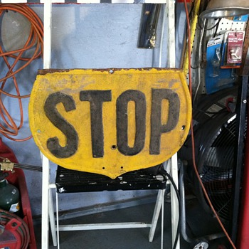A little different stop type sign.