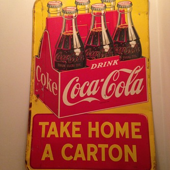 1950's Canadian Tin Coca-Cola Sign - Coca-Cola