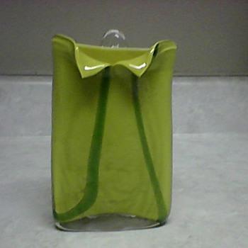 LIME GREEN GLASS WALL  POCKET - Art Glass