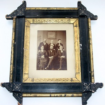 19th Century Victorian Eastlake Ebonized Gilt Aesthetic Movement Picture Frame
