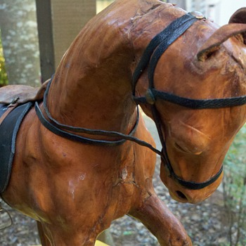 Leather Horse Statue!