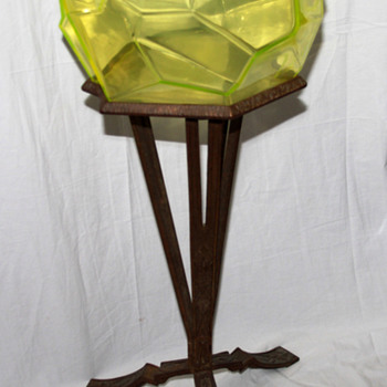 The Ruba Rombic Fishbowl With Original Stand, That&#039;s right - Art Glass