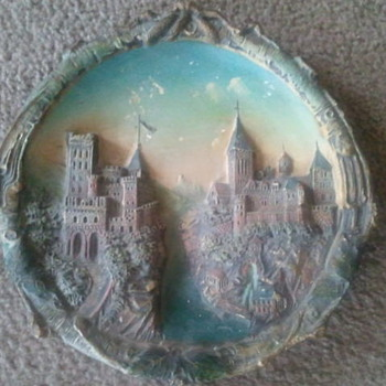 Czech wall plate - Art Pottery