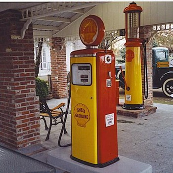 Gas pumps from our filling station. - Petroliana