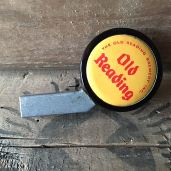 Old Reading Beer Cooler Tap Knob