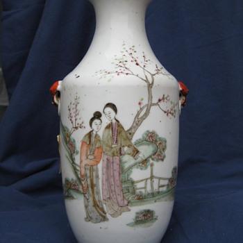 detailed asian vase