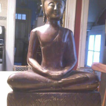 Wood Carved Thai Buddha