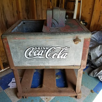 Vintage Coke cooler - Coca-Cola