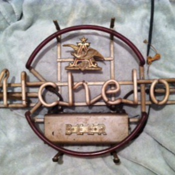 Antique Anheuser Busch Michelob Neon