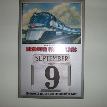 Old railroad calendar - Railroadiana