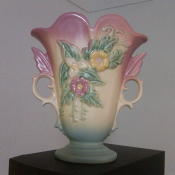 Great Hull Pottery Vase with Flowers: Stamped  - Art Pottery