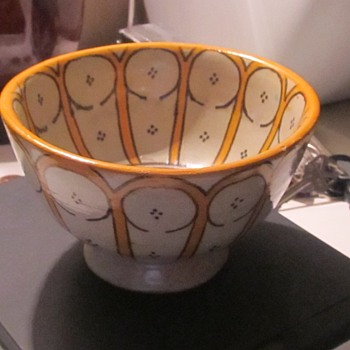little pottery bowl yellow