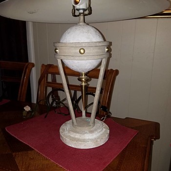 PAIR OF STONE LAMPS