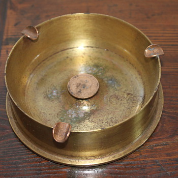 WWII Trench Art Ashtray - Military and Wartime