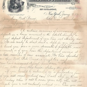 "Advertising Letter W.F.Burns Company""January 9-1907"" - Advertising"
