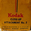 Kodak close up attachment