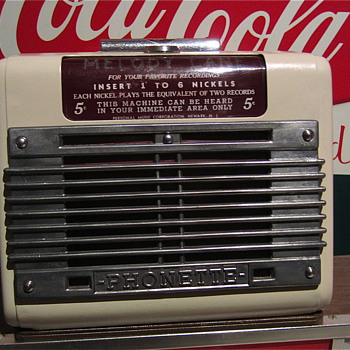 "1940s/early 50s ""MELODY LANE"" Phonette nickel mini Jukebox"