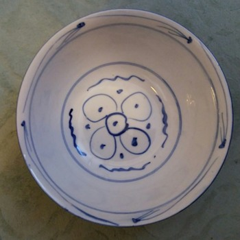 Bowl blue and white porcelain