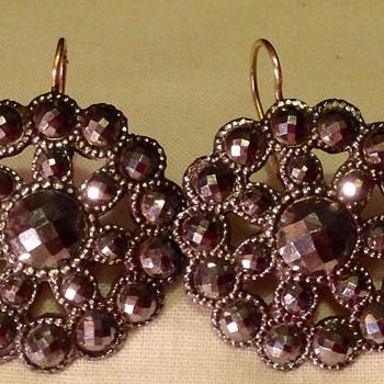 Pair of Georgian cut steel earrings