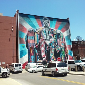 Abe As A Mural.... - Visual Art