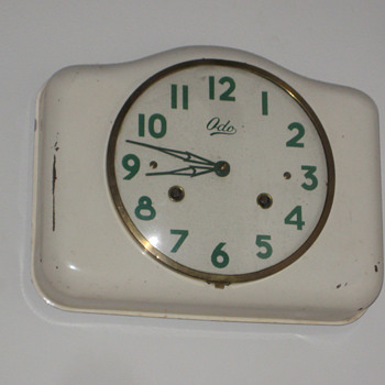 Antique 1950's French ODO wall clock.