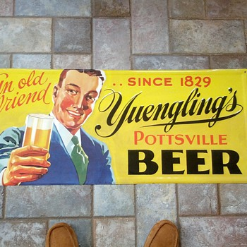 Yuengling Pottsville Tin Sign - Breweriana