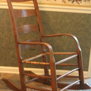 thoughts on ladderback bent arm rocker... - Furniture