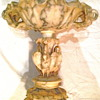 Italian Alabaster Compote with Swans