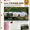 Hot Cars Card - Pontiac Trans Am