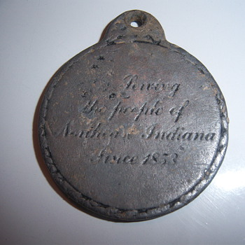 pewter Saint Marys Church medallion - Medals Pins and Badges