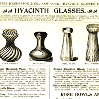 Hyacinth Vases? What is that about? - Art Glass