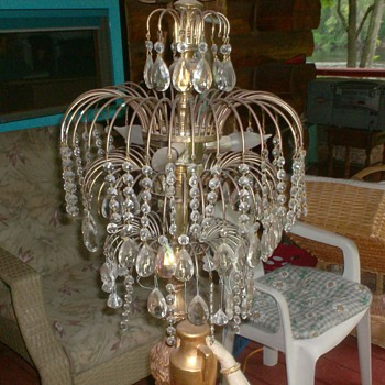 large lady floor lamp from France