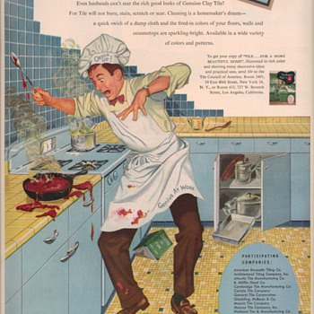 1950 Tile Council Advertisements - Advertising
