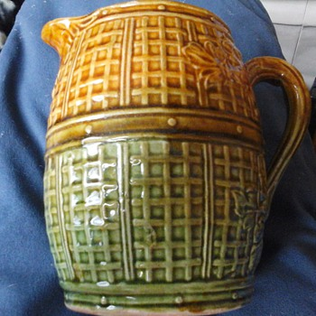 old majolica jug  - Pottery