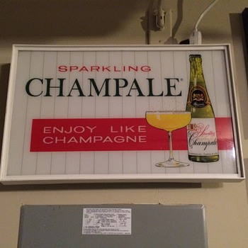 Champale light up sign