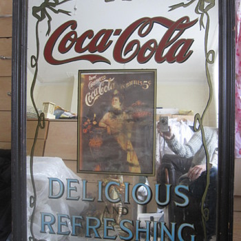 1904 Coca Cola Pub Advertising Mirror