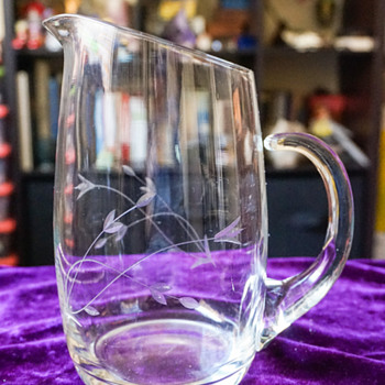 Princess House Water Pitcher - Art Glass