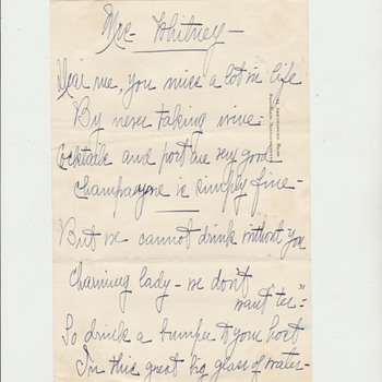 Ca. 1920s Joseph P Kennedy Sr. Handwritten Memo
