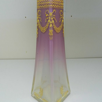 Attractive JOSEF RIEDEL Cased Glass Vase -  Bohemian - Art Glass