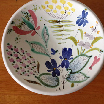 Hand painted Faience Bowl Stig Lindberg for Gustavsberg ca.1950  - Pottery