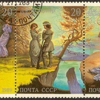 "1989 - Russia ""American Frontier Scenes"" Postage Stamps - Stamps"