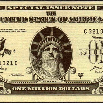 Statue of Liberty Souvenir Novelty Note