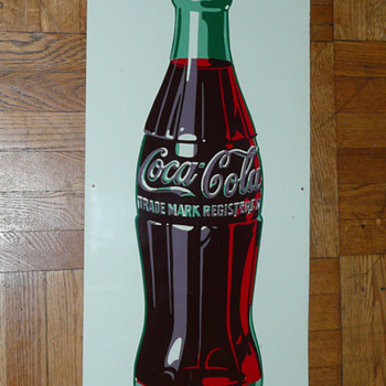 Coca Cola Bottle Tin Sign  1948 - Coca-Cola