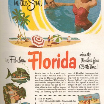1953 - Florida Travel Advertisement - Advertising