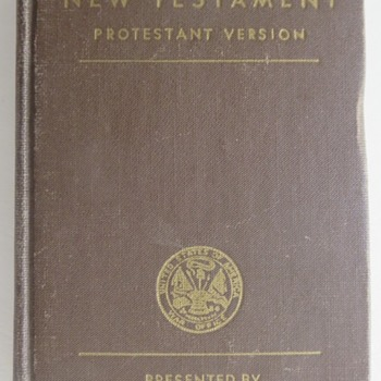 WWII U.S. Army Issued New Testament - Books