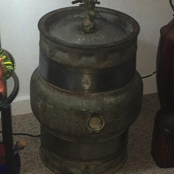 Old keg with a Peerless 1920 tap